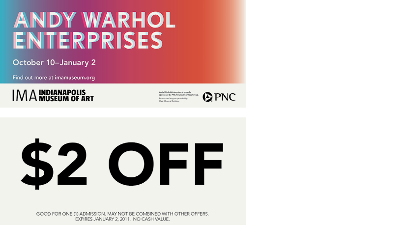 Warhol Coupon